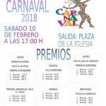 PREMIADOS Y FOTOGRAFÍAS DEL CARNAVAL 2018