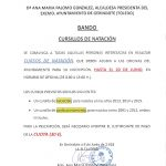 BANDO CURSILLOS DE NATACIÓN