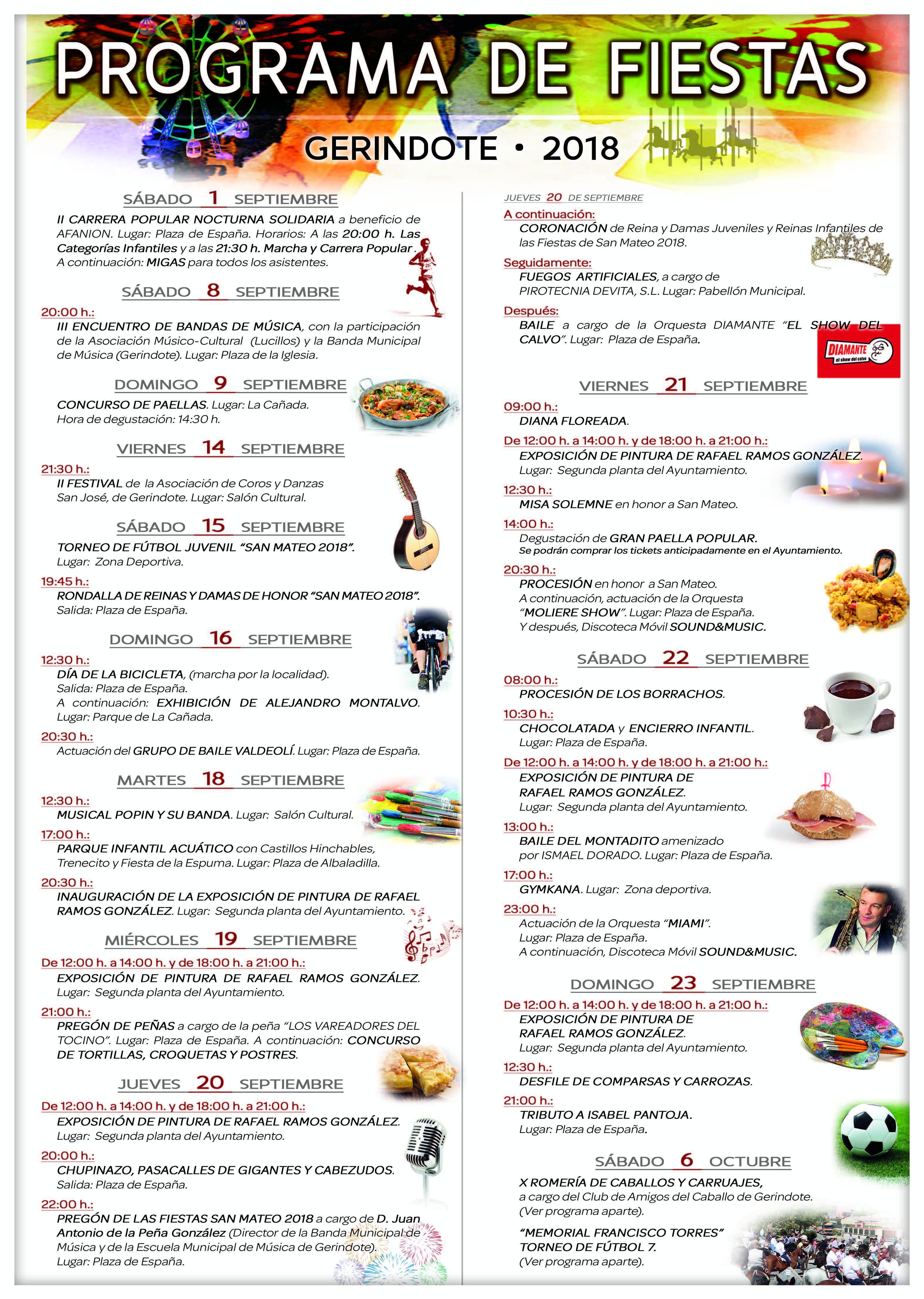 Fiestas GERINDOTE 2018 cartel