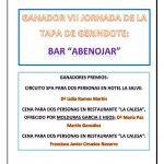GANADORES VII JORNADA DE LA TAPA GERINDOTE 2019