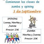 CLASES DE ZUMBA Y SPINING